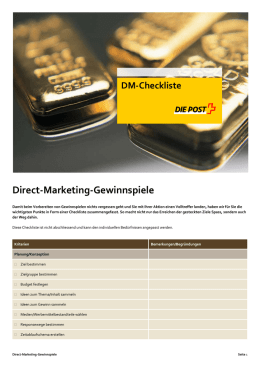 Direct-Marketing-Gewinnspiele