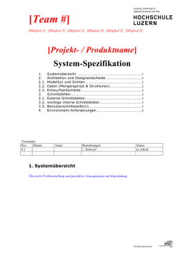System-Spezifikation Vorlage (Only in German)