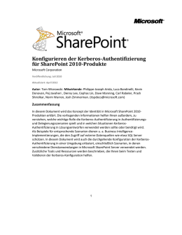 Kerberos-Authentifizierung für SQL OLTP (SharePoint Server 2010)