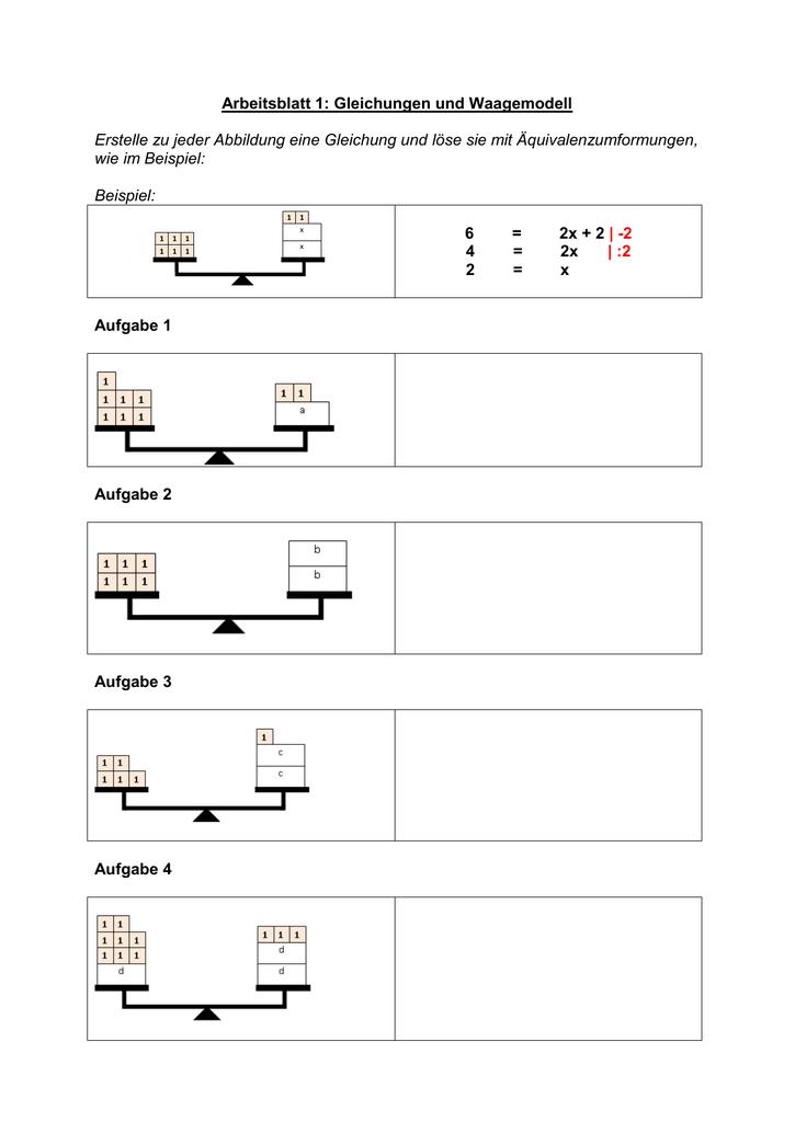 Arbeitsblätter mit Lösungen