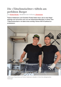 BZ-Artikel - Best of Swiss Gastro