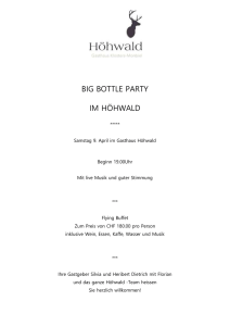 Big Bottel Party - Hotel Walserhof Klosters