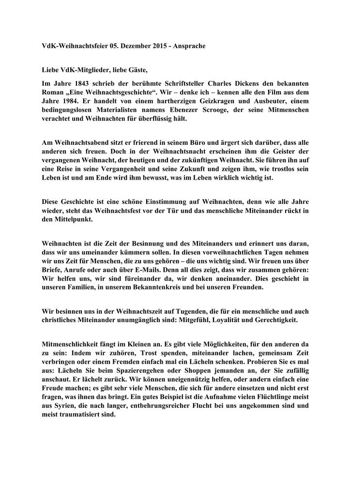 Ansprache Weihnachtsfeier.Weihnachstansprache2015
