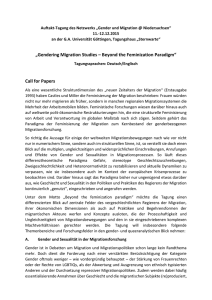 Gendering Migration Studies – Beyond the Feminization Paradigm