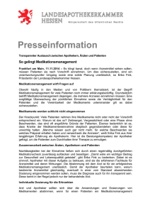 So gelingt Medikationsmanagement
