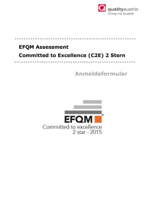 EFQM Assessment Committed to Excellence (C2E