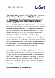 2011-10-20: IOZ AG integriert Navision in SharePoint bei