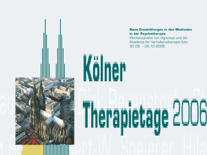 Die Interpersonelle Psychotherapie der Depression (Powerpoint
