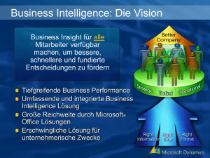 "Präsentationsvorlage ""Business-Intelligence"""