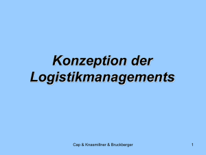 Konzeption der Logistikmanagements