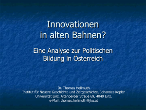 Innovationen in alten Bahnen?