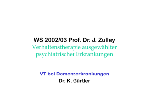 WS 2002/03 Prof. Dr. J. Zulley