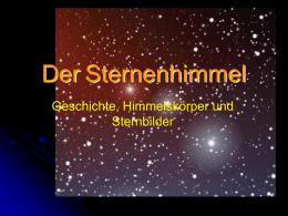 Entfernungsmessung Mit Supernovae : Entfernungsmessung mit supernovae in der