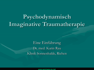 Workshop: Psychodynamisch-Imaginative Traumatherapie