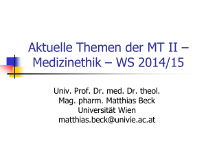 Power-Point - Theologische Ethik