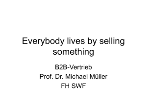 Everybody lives by selling something