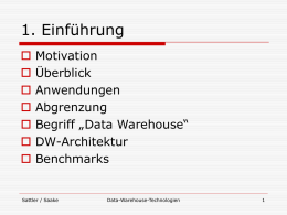 Vorlesung Data-Warehouse-Technologien