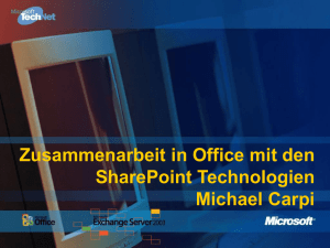 Zusammenarbeit in Office mit den SharePoint Technologien