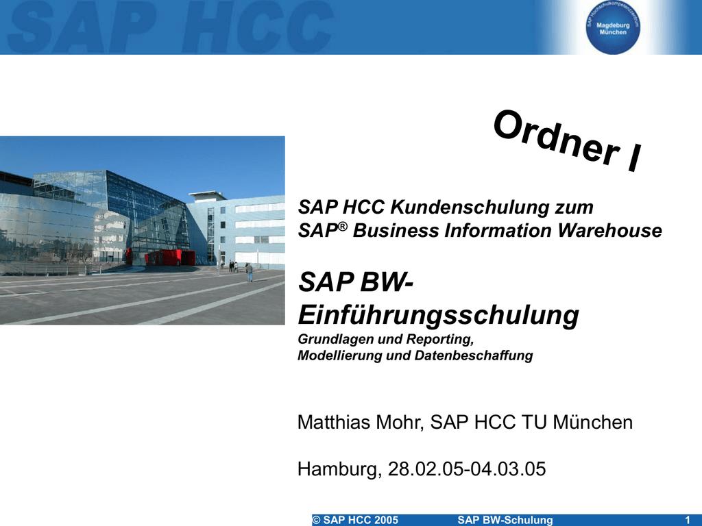 SAP BW - Ihre Homepage bei Arcor