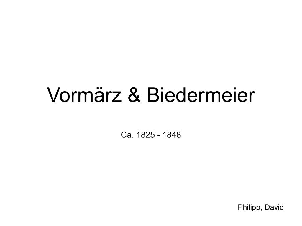 Vormärz Junges Deutschland 1830 Bis 1848