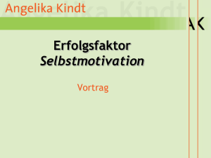 Selbstmotivation