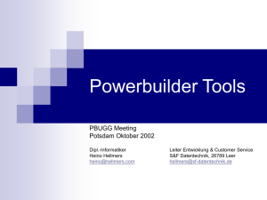 - PowerBuilder User Group Germany PBUGG eV