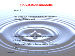 Solvatationsmodelle