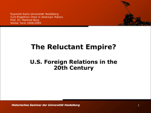 The Reluctant Empire? - Universität Heidelberg