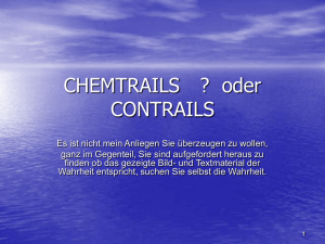CHEMTRAILS ? oder CONTRAILS