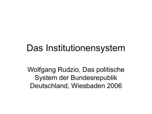 Das Institutionensystem - Eichsfeld