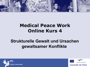 Medical Peace Work Course 4