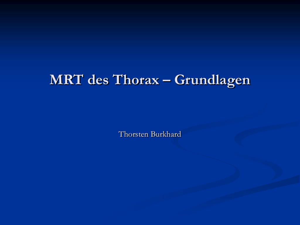 Mrt thorax