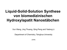 Liquid-Solid-Solution Synthesis of Biomedical Hydroxyapatite