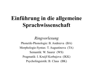 Einf-allg-Spr-1 - Computerlinguistik