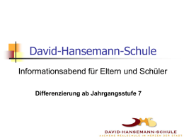 Konzept Differenzierung - David-Hansemann