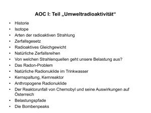 Definition radiochemische Datierung