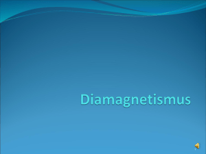 Diamagnetismus - lamp.tugraz.at
