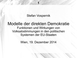Powerpoint-Präsentation - Direkte Demokratie in Europa