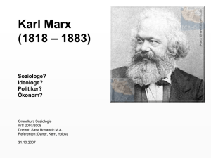 Karl Marx (1818 – 1883) - Phil.-So.