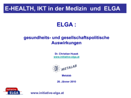 ppt - Initiative ELGA