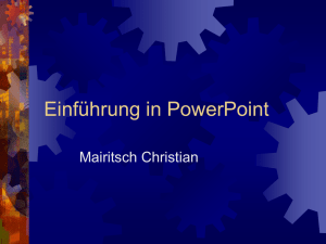 Power Point Präsentation