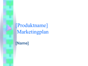 [Produktname] Marketingplan