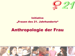 Anthropologie der Frau