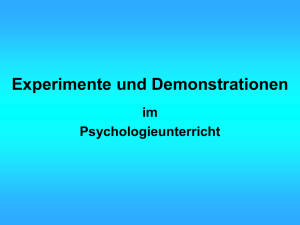 Experimente und Demonstrationen Berlin 2002