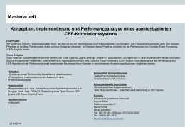 Masterarbeit Konzeption, Implementierung und Performanceanalyse