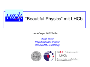 LHCb Physics Performance