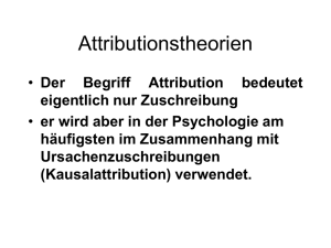 Attributionstheorien