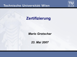 Zertifizierung - Institute of Computer Engineering