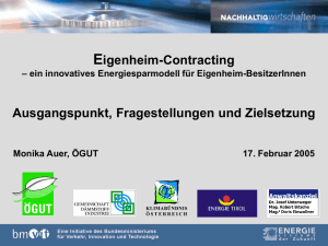 Eigenheim-Contracting