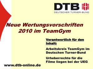 Team Gym 2010 - Deutscher Turner-Bund